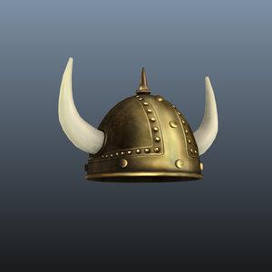 viking helmet 3d ma