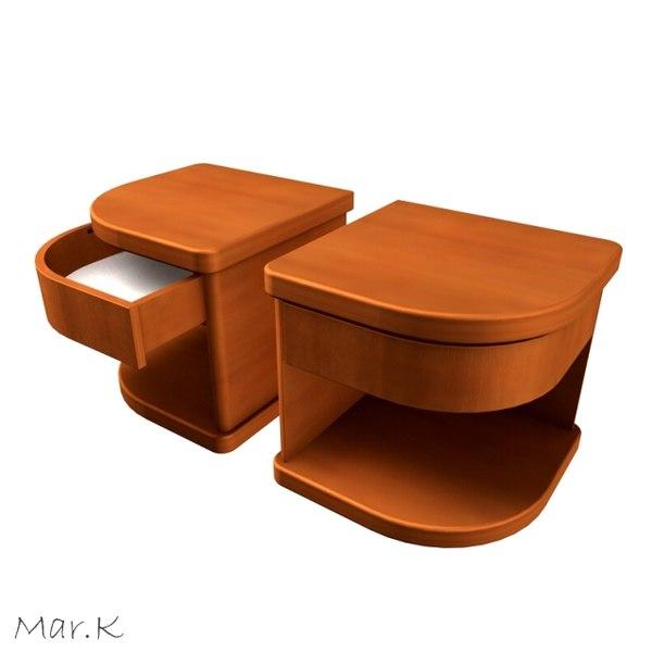 3d model of bedside table segment