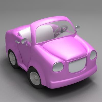 3d model toon cabriolet car