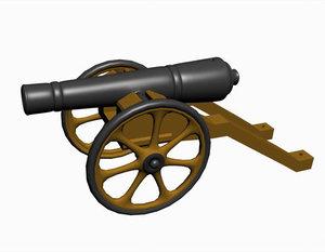 antique gun 3d max