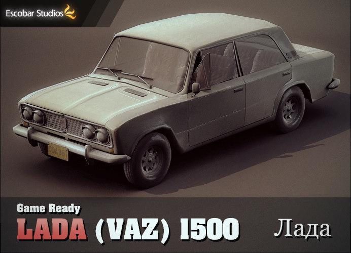 lada 1500 vaz car 3d model