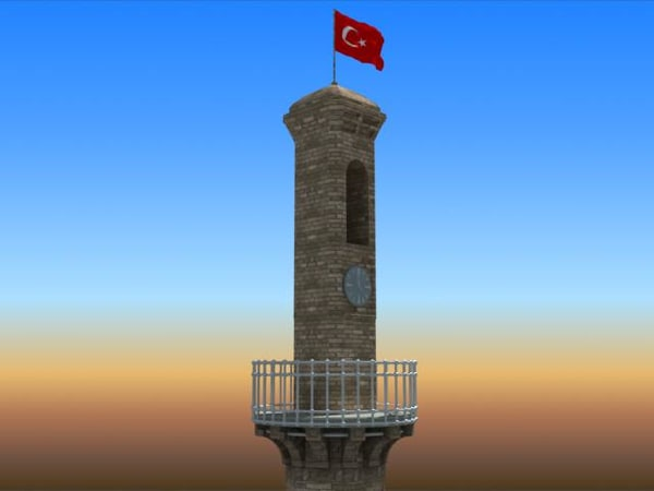 3d model measurements clock tower