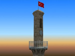 3d model measurements clock tower