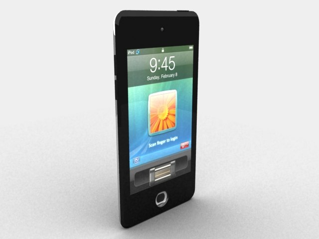 3d model ipod touch 4th