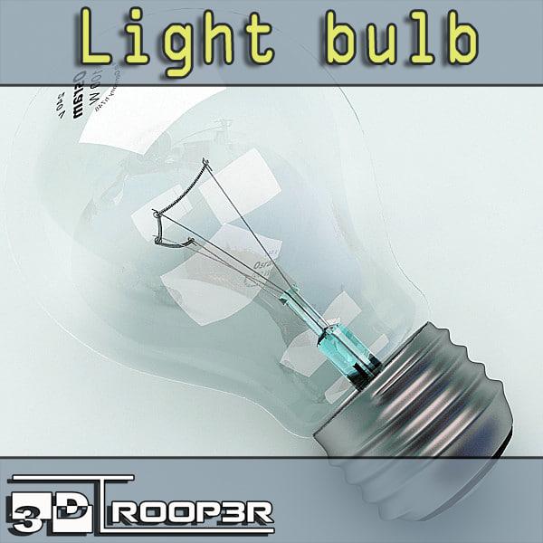 3d photorealistic light bulb model