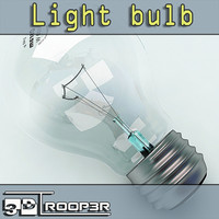 obj photorealistic light bulb