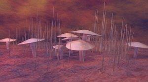 3d model of mushroom death cap