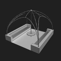 garden summer house 3d model