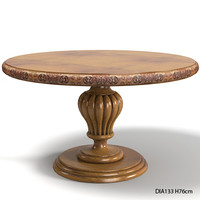 FRENCH HERITAGE AVENUE Val De Loire Pedestal Table classic round table traditional dining  wooden ANTIQUE CHERRY