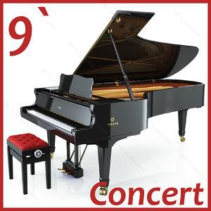 concert grand piano yamaha obj