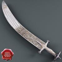3d indian sword
