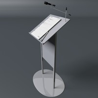 Lectern with Mic