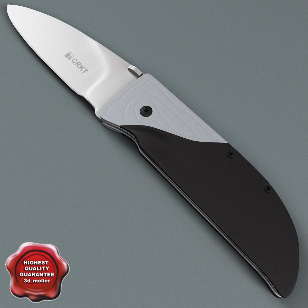 personal knife krkt 3d model