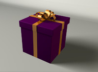 present giftwrapped gift 3d c4d