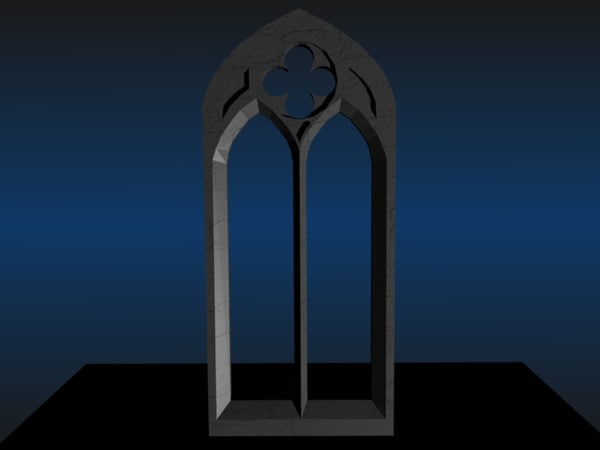 free blend model gothic window