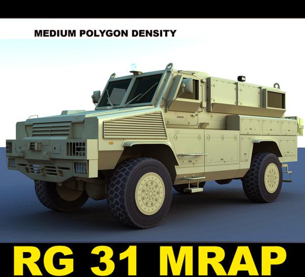 rg 31 mk5e mrap 3d max