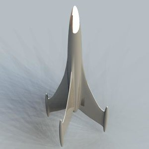 3d retro rocketship