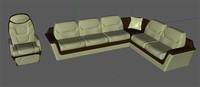3d model business divan