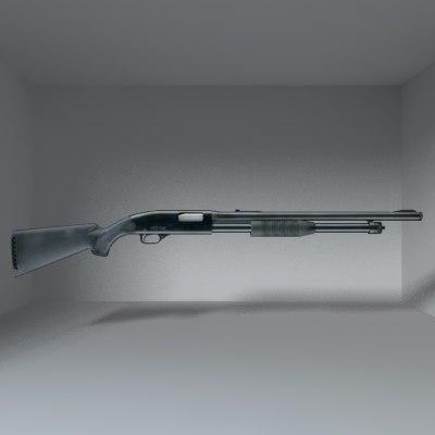 maya shotgun gun shot