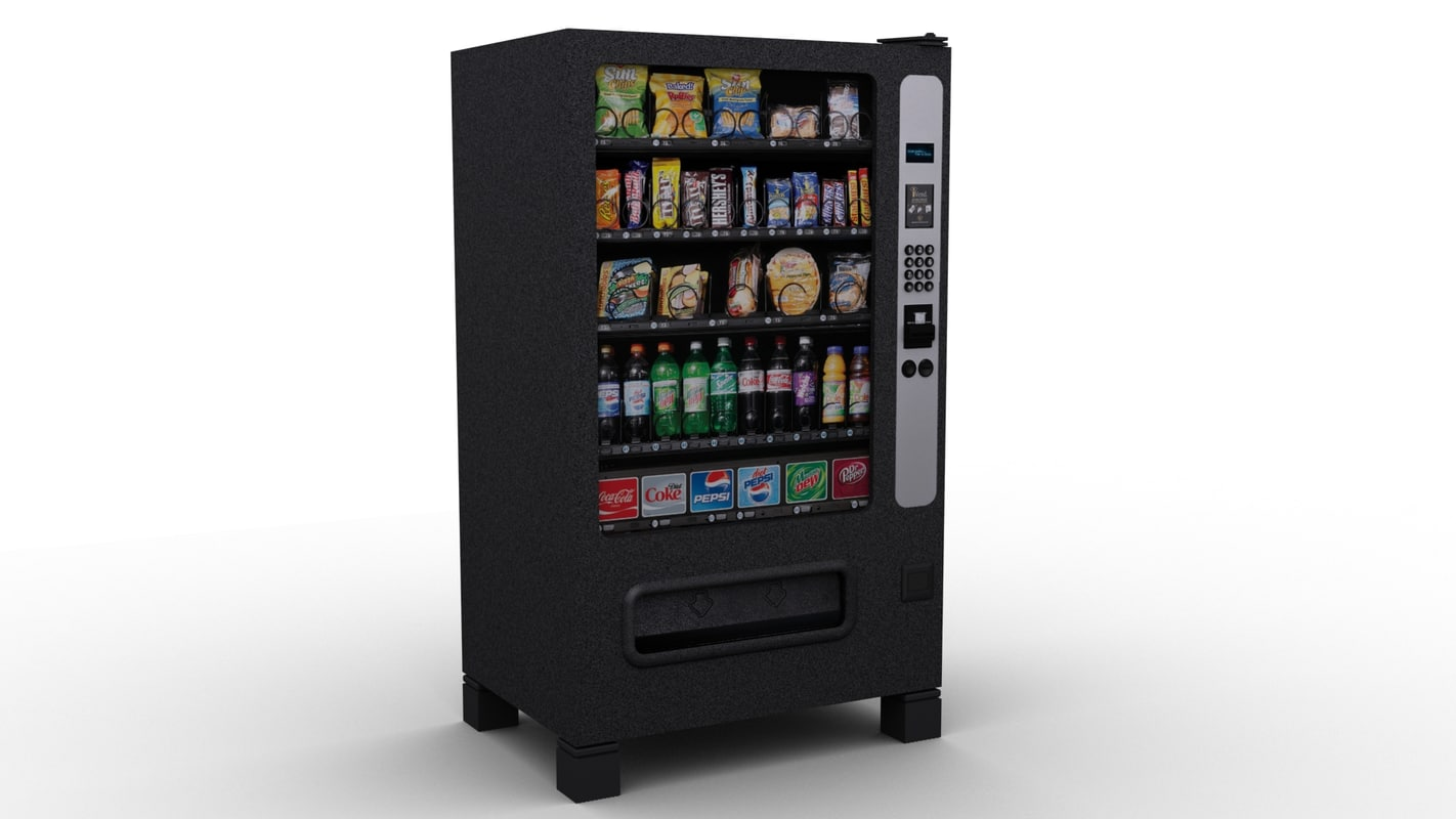 snack machine 3d max