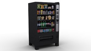 snack machine 3d max