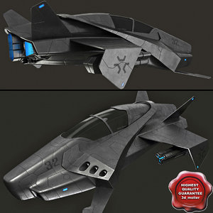spaceship modelled 3d model