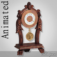 old table clock animation ma