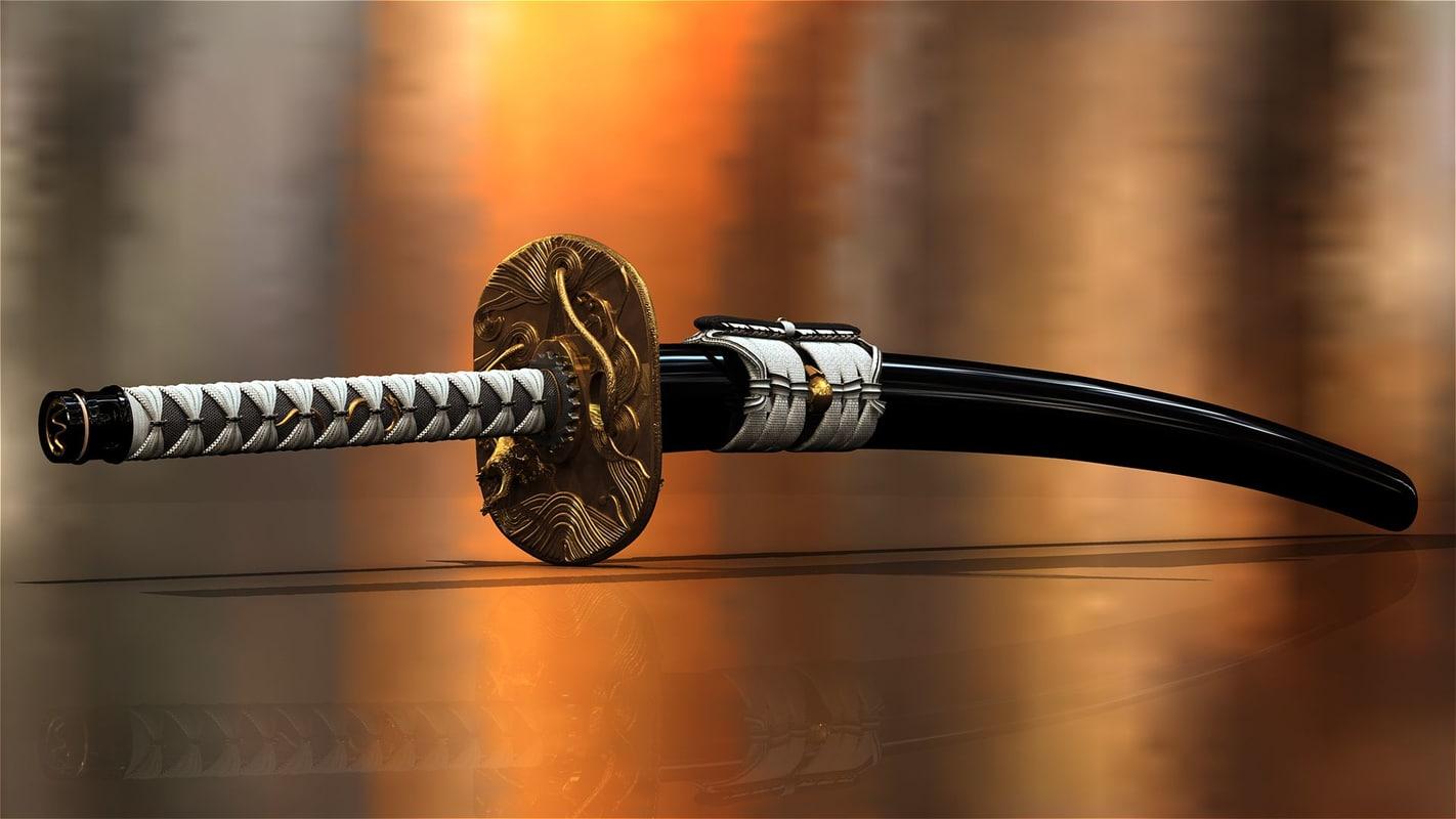 3d katana sword model