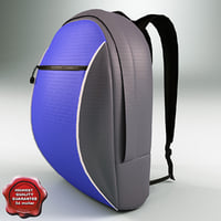 3d model travel backpack