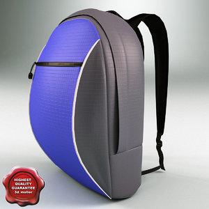3d model travel backpack