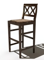 3d marchetti chair bar model