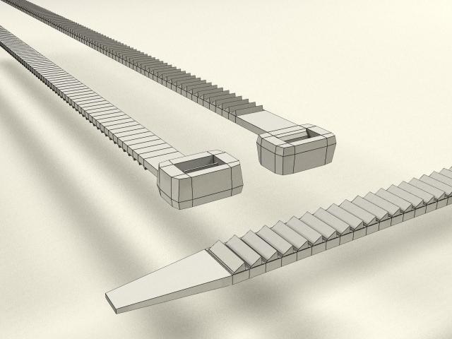 realistic tie binder 3d model