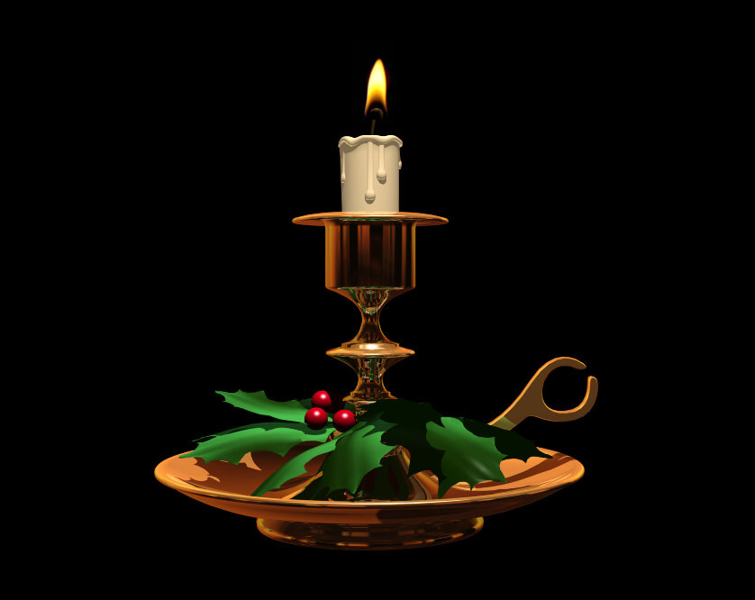 candle holder 3d 3ds