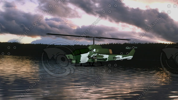 3d army helicopter model