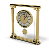classic elegant modern golden clock table watch fireplace