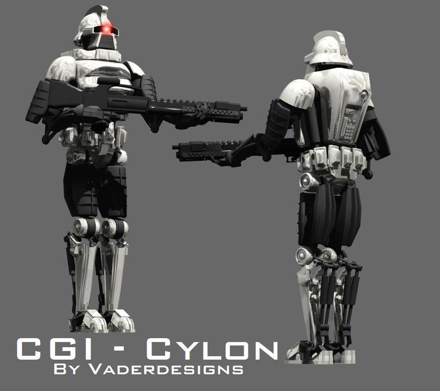 3d model cylon fighter commander