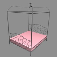 3ds max baldaquain bed