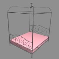 3ds max baldaquain bed