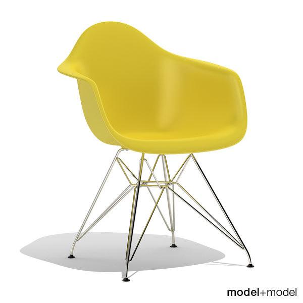 3d model eames plastic armchair dar