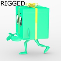 blender gift character rigged
