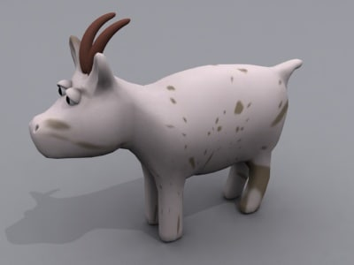 goat animals 3d obj