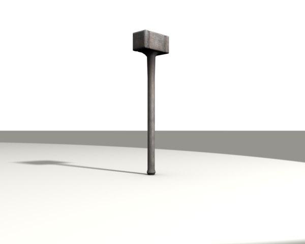 free 3ds model hammer warhammer