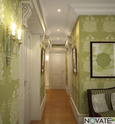 rendering classic corridor 3d model