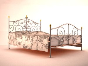 3d model bed frame iron