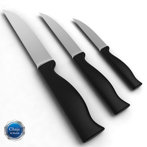 kitchen knife 3d 3ds