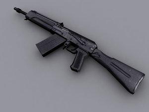 3d russian shotgun saiga12