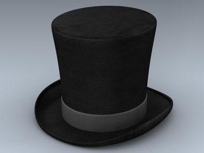 hat formal 3d model