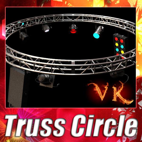 truss 4 lights - 3d model