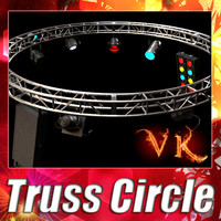 Truss + 4 stage lights - High detailed.
