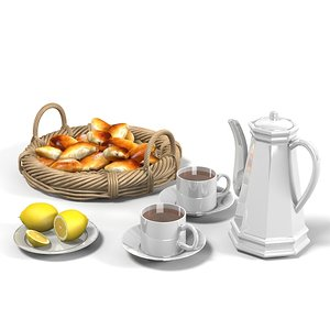 3ds tea set